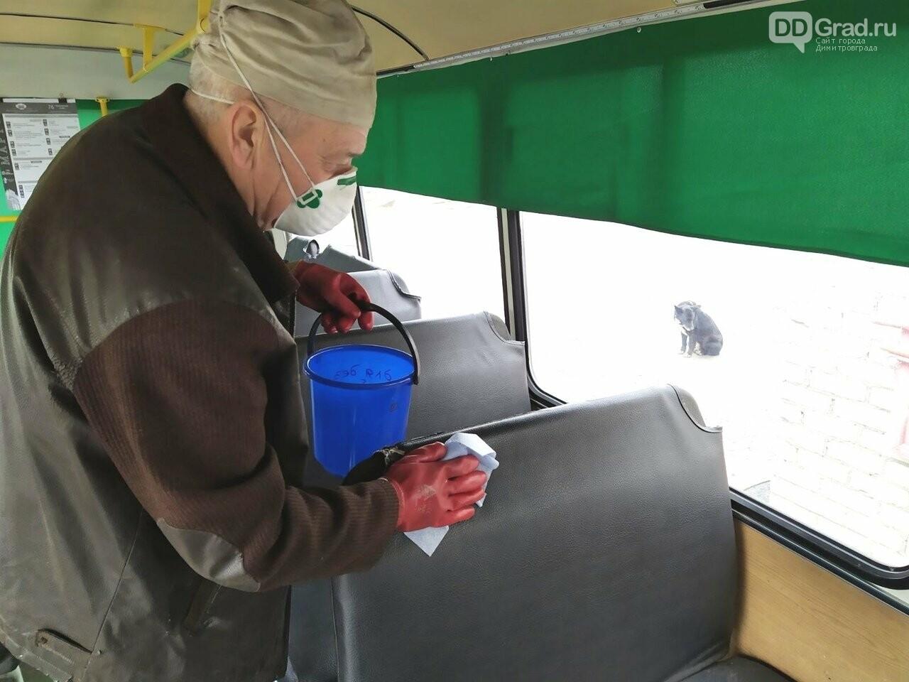 Общественный транспорт дезинфицируют дважды в день, фото-4