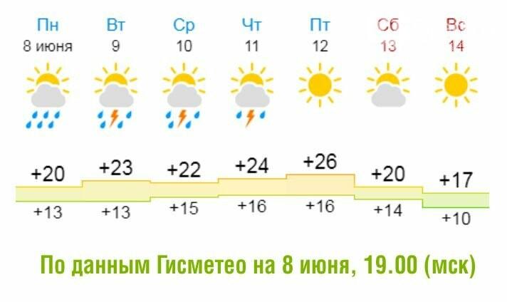 В футболке и с зонтом. Погода в Димитровграде на грядущую неделю, фото-1