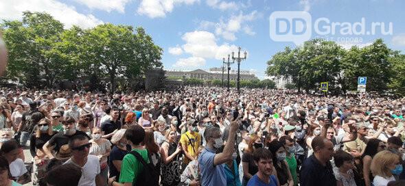 В Хабаровске третью субботу подряд люди выходят на улицу в поддержку Фургала, фото-1