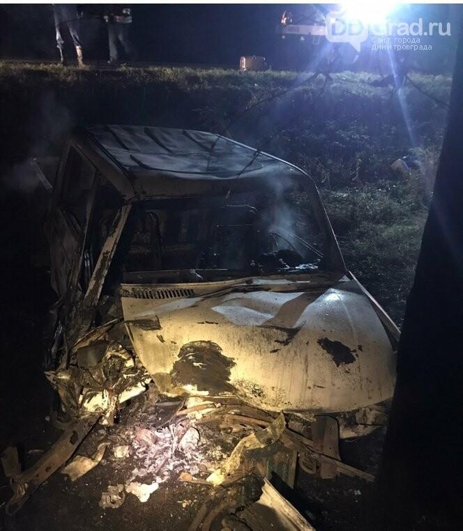 В Мелекесском районе в машине сгорел водитель, фото-1