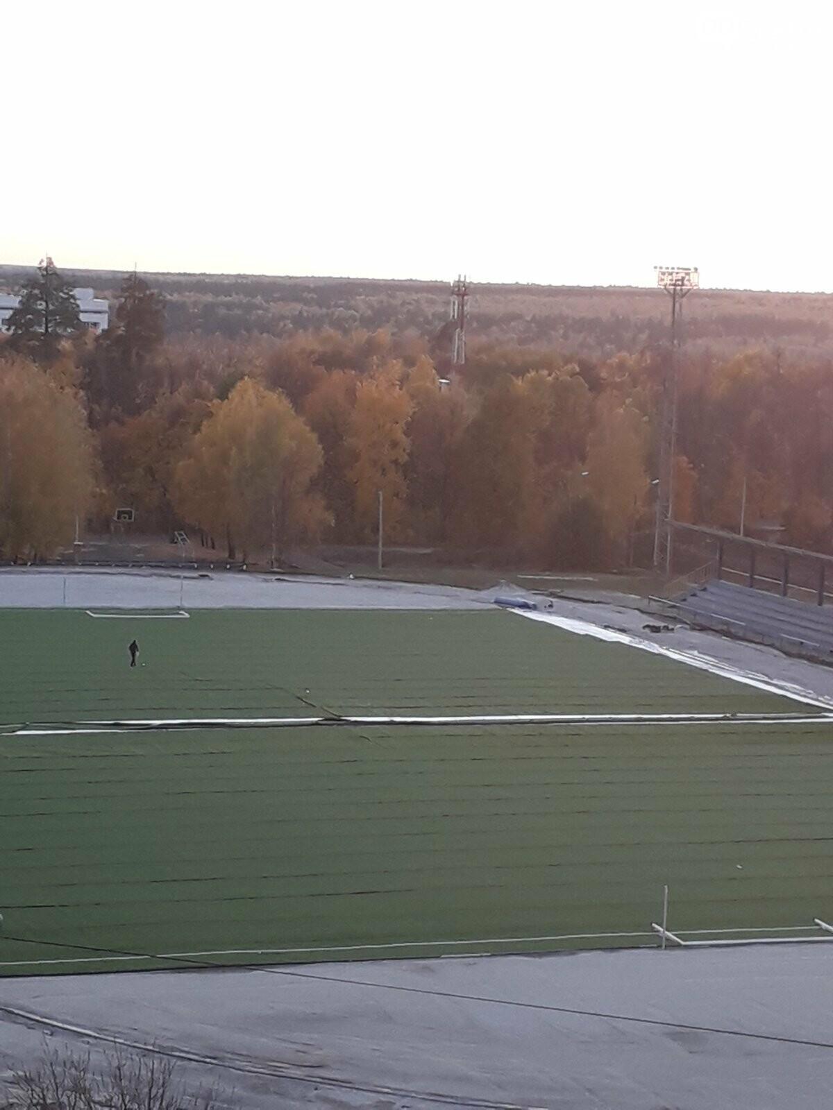 В Димитровграде на стадионе «Старт» завершают монтаж нового футбольного поля, фото-1